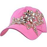 Elonmo Bling Rhinestone Hat, Lace Flower Womens...