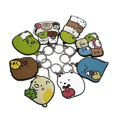 LevinArt Japanische Anime Sumikko Gurashi Schlüsselanhänger Cartoon Figur Schmuck Zubehör Auto Schlüsselanhänger Halter Geschenk Schlüsselbund