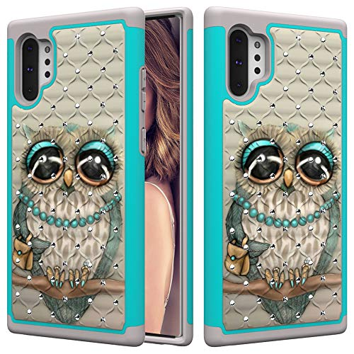 Galaxy Note 10 Plus Case, DOOGE Studded Rhinestone Bling Diamond Sparkly Luxury Case Dual Layer Protective Bumper Shockproof Pretty Girls Women Case for Samsung Galaxy Note 10 Plus/Note 10 Pro 6.8'