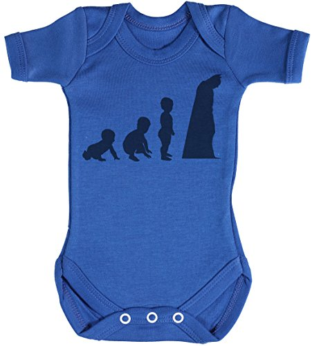 Baby Evolution to A Bat Man Body bébé - Gilet bébé - Body bébé Ensemble-Cadeau - Naissance Bleu