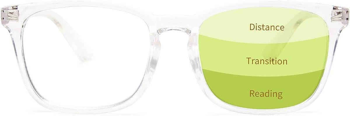 Gaoye Progressive Multifocus Reading Glasses Blue Light Blocking Women//Men,Computer Readers with Spring Hinge