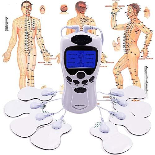 Muscolo TENS Elettrostimolatore Macchina Tens Dual Channel Dual Channel Agopuntura Corpo Mucle Massager Macchina Terapia digitale 8 Pads per il Collo del Piede Gamba assistenza sanitaria Dispositivi d