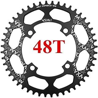 Propenary - 自転車104BCDクランクオーバルラウンド30T 32T 34T 36T 38T 40T 42T 44T 46T 48T 50T 52TチェーンホイールXT狭い広い自転車チェーンリング[ラウンド48Tブラック]
