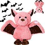 Plush Toy Bat Stuffed Animal Toy Plush Furry Soft Lovely Bat Toy for Girlfriend Girls, Pink