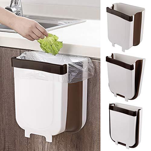MaoXinTek Cubos de Basura Plegable Colgando 9L Extraible Basurero para la Cocina Coche y Dormitorio