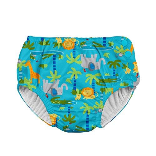 i play. Baby Snap Reusable Absorbent Swim Diaper, Aqua Jungle, 24 Months