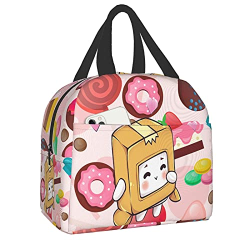 QQIAEJIA LankyBox Bolsa del almuerzos Boxy Foxy Aislado Reutilizable Impermeable Large Capacity Warm Caja de almuerzo Best Gift for Mom Daughter Mother Day Birthday for Boys Girls Adults School