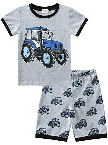 Little Hand Jungen Schlafanzug Kurz Boys Pyjamas Shorts Traktor Kinder Sommer Schlafanzug Baumwolle Kurzarm 1-7 Jahre