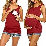 UNibelle Camiseta de maternidad para mujer, sin mangas, con sujetador...