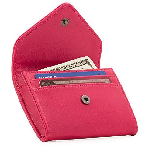 OTTO Angelino Lederen Portemonnee en Creditcards Organizer Wallet - RFID Bescherming - Unisex (Pink)
