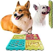 4Pcs Dog Lick Pad and Slow Feeder Mat, 2pcs Dog Slow Feeder and 2 pcs Lick Placemat Pad Combo with Suction Cup,Dog Grooming Distraction and Dog Training