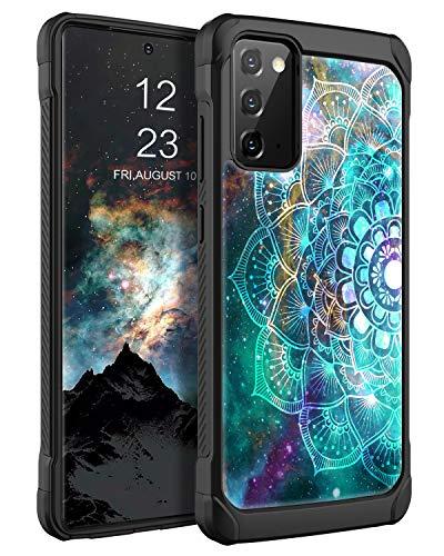 BENTOBEN - Custodia in silicone per Samsung Galaxy Note 20, cover posteriore rigida ibrida in poliuretano termoplastico, antiurto per Samsung Galaxy Note 20, motivo mandala