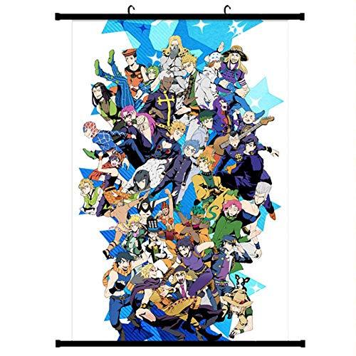 CAR-TOBBY Anime JoJo Jojos bizarres Abenteuer Jotaro Wall Poster Scroll Hang Poster(L)
