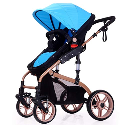Best Prices! DLJFU - Baby Strollers Four-Wheeled Baby Stroller Two-Way Shock Absorbers Lightweight S...