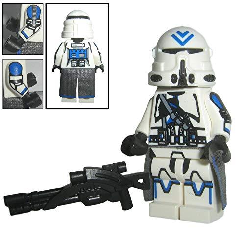 Custom Brick Design 501st Legion Airborne Sniper Clone Trooper Figur - modifizierte Minifigur des bekannten Klemmbausteinherstellers und somit voll kompatibel zu Lego