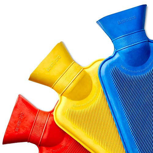 Medipaq® Mini Hot Water Bottles - 3 Pack - One of Each Colour (3X Pack Water Bottles)