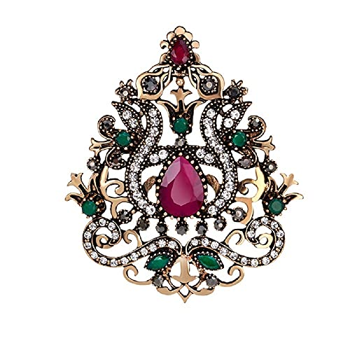 HHBB Señoras Broche Vintage Corona Diseño Pin Ropa de Mujer Accesorio Regalo A