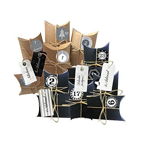 Anyingkai Weihnachtskalender Box,Weihnachtskalender Zum Befüllen,Adventskalender Selber Befüllen,Weihnachtskalender DIY,Bastelset Adventskalender,Adventskalender Zum Befüllen