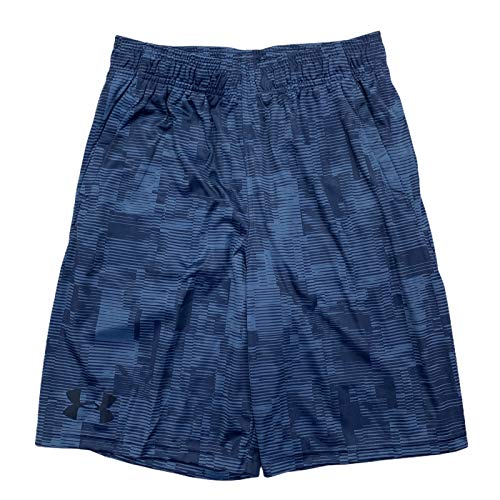 Under Armour Boys HeatGear Velocity Printed Athletic Shorts (Blue, X-Large)