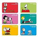 Excelsa Peanuts Set 6 Tovagliette, Polipropilene, Multicolore, 6 pezzi