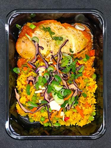 Season Family Fertiggericht Hähnchen-Reispfanne mit Asiagemüse als Fitness Essen I Fertiggerichte für Mikrowelle oder Pfanne unter Schutzgasatmosphäre verpackt I Inhalt 450 g
