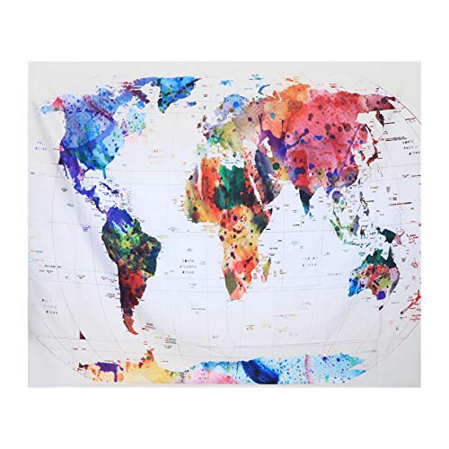 Garneck 1 St Tapijt Rechthoek Afdrukken Kleurrijke Sjaal Muur Opknoping Muurschildering Wereldkaart Tapijt Voor Kantoor Woonkamer Slaapkamer