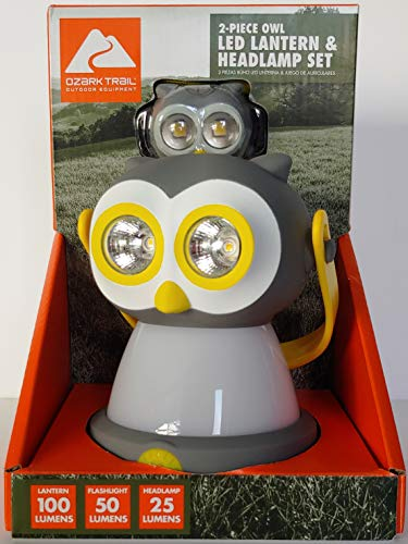 Ozark Trail Outdoor Equipment LED Lantern & Headlamp Set - Owl