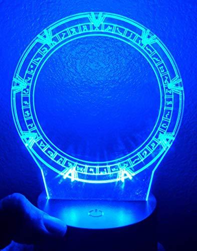 Kreative LED Nachtlicht 3D USB Fernbedienung Farbe Stereo Tischlampe Stargate Schlafzimmer Nacht Baby Schlaf Licht