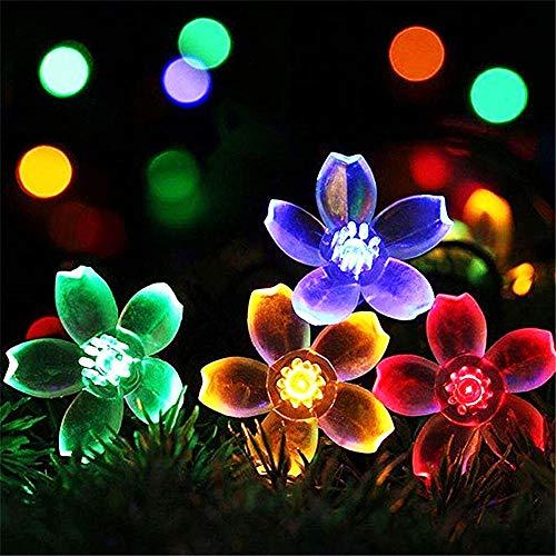 Luces de JardíN de Hadas Al Aire Libre con EnergíA Solares, 50 Led FáCil de Instalar Luces de Navidad Impermeable, para Jardines Al Aire Libre Decoraciones de Navidad para Boda (Multicolor),Color