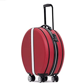 """XLHJFDI Trolley Case,Silent Universal Wheel Suitcase,Fashion Super Storage Bag,ABS + PC, with TSA Customs Lock,18"""" (Color : Red)"""