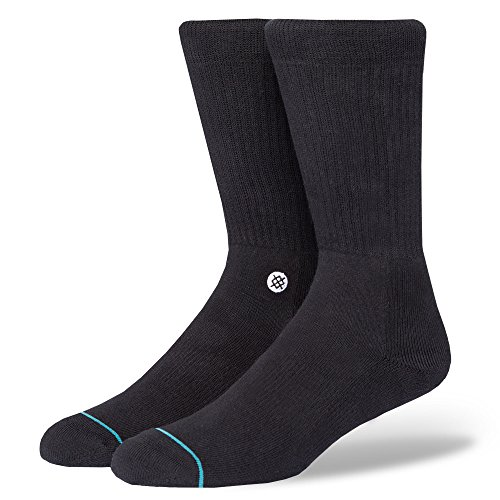 Stance Icon Homme Chaussettes, Black/White, FR : L (Taille Fabricant : L)