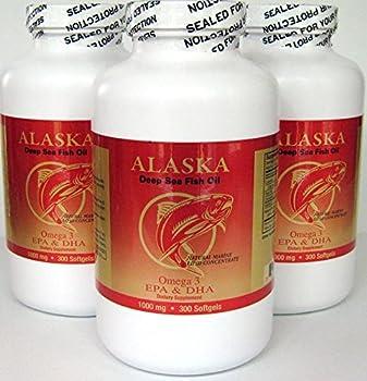 3 X 300 Alaska Deep Sea Omega-3 Fish Oil =900Caps EPA/DHA FRESH  New Item Good Product !!