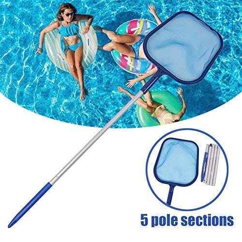 DZWJ Pool Skimmer, Pool-Zubehör Teleskop-Ineinander greifen-Netz Reinigung Pole für Reinigung Pool Hot Tub Cleaning Kit Zubehör