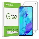 Janmitta für Huawei Nova 5T Panzerglas Schutzfolie [3-Stück], 2.5D Panzerfolie 9H Gehärtetem Glass [Anti-Kratzen][Anti-Bläschen] HD Bildschirmschutzfolie mit Huawei Nova 5T 2019
