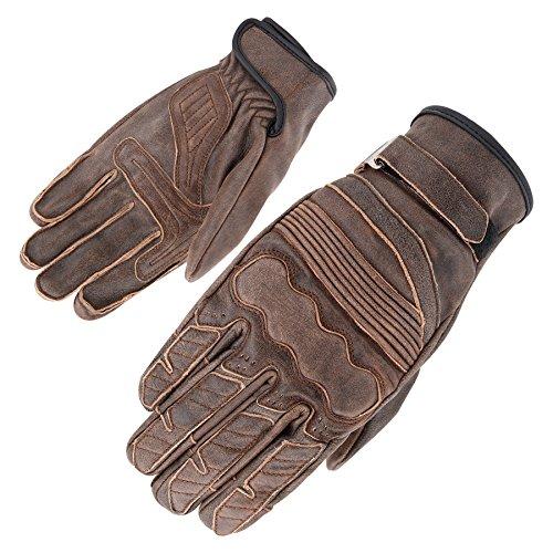 Orina Vintage Guantes de piel, marrón oscuro, tamaño 11