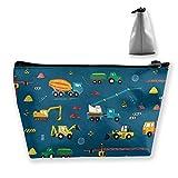 Baumaschinen Bauen Fashion Travel Kosmetiktaschen Multifunktions-Toilettenartikel-Organizer-Tasche Make-up-Tasche mit großer Kapazität