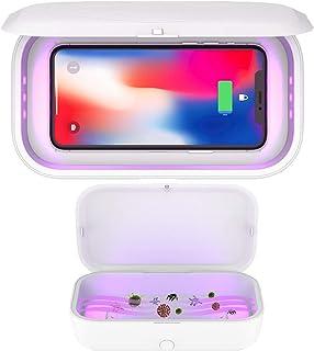 Cargador inalámbrico Teléfono UV desinfectante 10W Qi de Carga rápida para Samsung Galaxy S20 Ultra / S20 + / S10 / S9 / S8 / Nota 10/9/8, iPhone Pro 11 / XS MAX/XS/XR/X / 8/8 Plus
