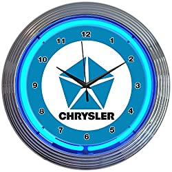 Neonetics Chrysler Pentastar Neon Wall Clock, 15-Inch