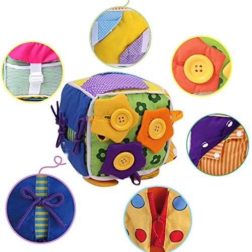 ウンチョン 紐通し おもちゃ ボタン 練習 知育 教育玩具 布の玩具 紐結び 練習 指先の知育 保育園 幼稚園 ...