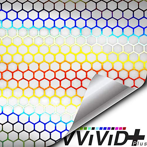 "VViViD Micro Bio HEX+ Air-tint Headlight Taillight Tint Vinyl Roll (17.9"" x 60"", Clear)"