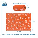 Best Pet Supplies Dog Poop Bags for Waste Refuse Cleanup, Doggy Roll Replacements for Outdoor Puppy Walking and Travel, Leak Proof and Tear Resistant, Thick Plastic - Orange, 150 Bags, OR-150B