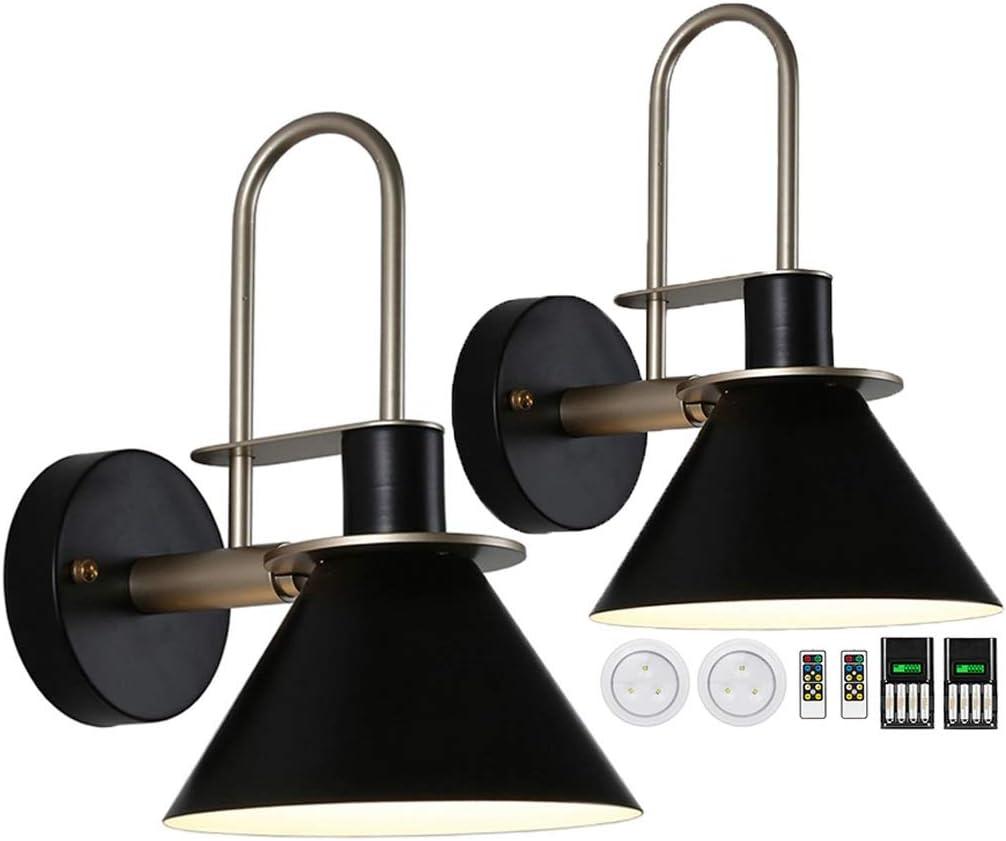 civaza Our shop most popular 2-Pack Wall Light Bedside Bargain sale Battery Lamp Control Led Remote