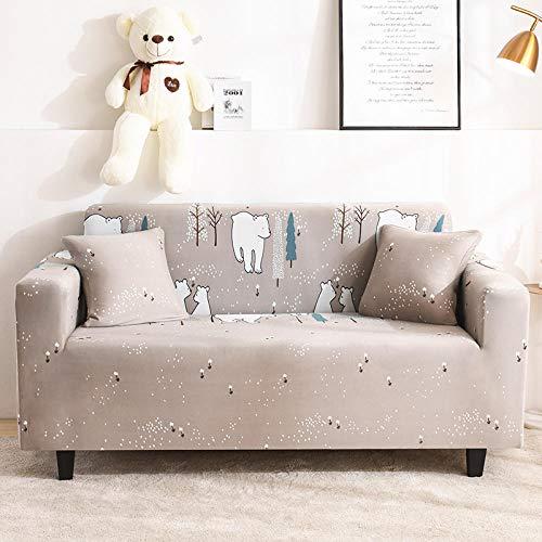 SDFWEWQ Elastischer Sofabezug 1 2 3 4 Sitzer Weich Farbecht Anti Rutsch Mode Beliebt Klassisch Muster Universal Sofabezüge Wohnzimmer Möbelschutz Couch Schonbezug (4 Sitzer 235-300 cm,Braun)