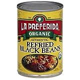 La Preferida Bean Refried Black Organic, 15 oz (Pack of 3)