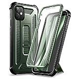 Dexnor Funda para iPhone 11 con Soporte e Protector de Pantalla Incorporado (Verde)