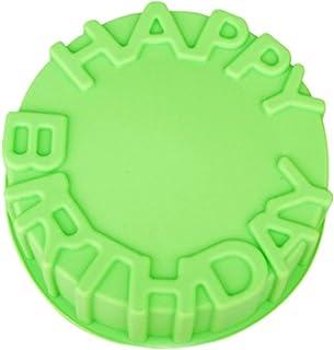 Wmaple Molde para pastel de silicona-FELIZ BIRTHADY Molde de chocolate para hornear Pastel Base