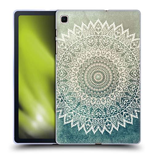Head Case Designs Licenza Ufficiale Nika Martinez Foglie d'Autunno Mandala Cover in Morbido Gel Compatibile con Samsung Galaxy Tab S6 Lite