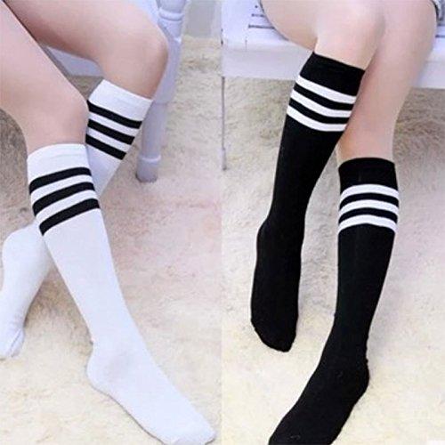 Gysad Calcetines japoneses en Medias Calcetines a Rayas Blancos y Negros. Calcetines Uniformes para Hombres y Mujeres. Calcetines pequeños.