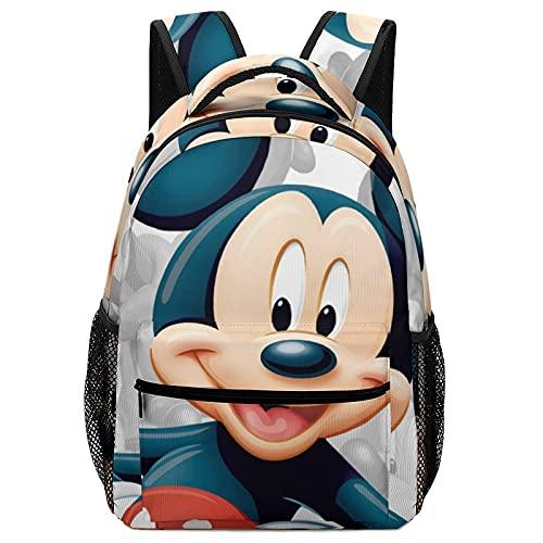 Mickey Cartoon Mouse Mochila para niños de alta capacidad para estudiantes de primaria y secundaria, ultraligero y multicompartimiento