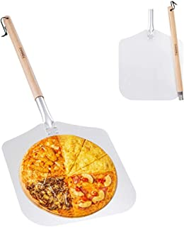 "Premium Aluminum Pizza Peel With Detachable Beech Handle, 12"" x 32.5"", Convenient To Store, Good Helper For Baking, Homemade Pizza And Bread"